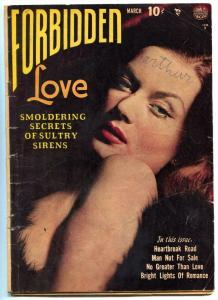Forbidden Love #1 1950-Golden-Age Romance 1st Issue - Reed Crandall G/VG