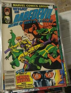 what if # 28 1981 marvel  daredevil- agent of shield frank miller +ghost rider