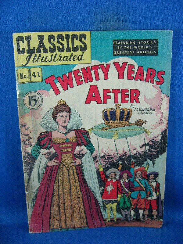 CLASSICS ILLUSTRATED 41 G TWENTY YEARS AFTER HRN 78 1947