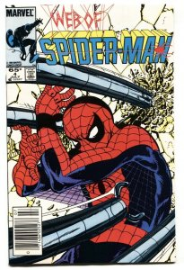 WEB OF SPIDER-MAN #4 1985 Newsstand cover MARVEL NM-