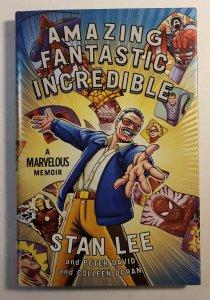 AMAZING  FANTASTIC  INCREDIBLE STAN LEE A MARVELOUS MEMOIR HARD COVER  NEW