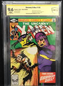 Uncanny X-men #142 (Marvel, 1981) CBCS 9.6 Claremont Sig