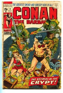 CONAN THE BARBARIAN #8 BARRY SMITH ROBERT E HOWARD 1971 g-