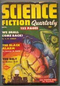 Science Fiction Quarterly Pulp 11/1951- BLACK ALARM
