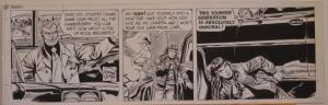 GEORGE WUNDER original strip art, TERRY, 7x23, 1972, 3 pages, Signed / dated,Dec