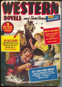 Western Novels & Short Stories 6/1952-Red Circle-pulp thrills-Norman Saunders-G+