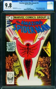 AMAZING SPIDER-MAN ANNUAL #16 CGC 9.8 1st Monica Rambeau 2006596001