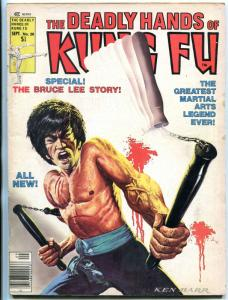 The Deadly Hands of Kung Fu #28 1976-all BRUCE LEE issue G/VG