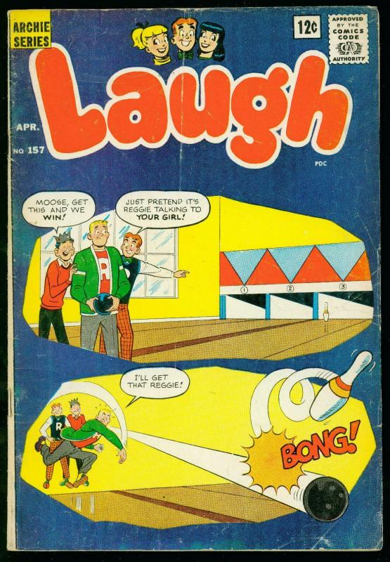 LAUGH #157 1964-ARCHIE COMICS- JOSIE by DeCarlo- good