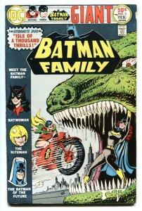 BATMAN FAMILY #3 1976-DINOSAUR- MOTORCYCLE-BATWOMAN  VG