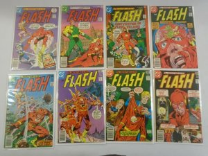 Flash lot 8 different 35c covers from #250-260 avg 5.0 VG FN (1977-78 1st Series