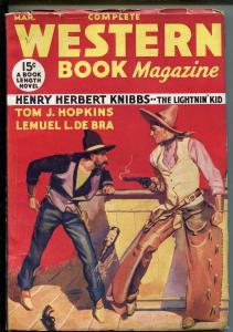 COMPLETE WESTERN Pulp 03/1934-RED CIRCLE-THE LIGHTNIN' KID--fn+