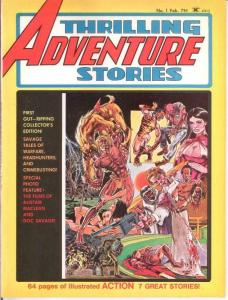 THRILLING ADVENTURE STORIES (1975) 1 F-VF Feb. 1975