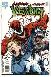 Venom: Carnage Unleashed #3  Great cover 1995 Marvel Comic Book NM-