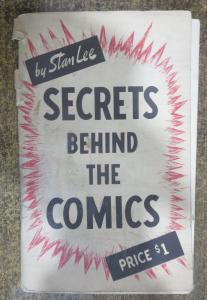 STAN LEE- SECRETS BEHIND THE COMICS! 1947 Original Edition GOOD, Blonde Phantom