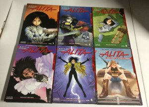 Battle Angel Alita Deluxe Edition Volume 1-5 Holy Night And Other Stories TPB HC