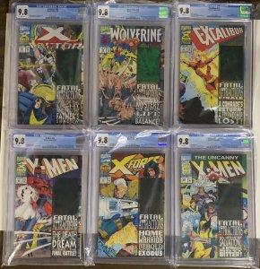 Fatal Attractions 1-6 Cgc 9.8 Uncanny X-men X-force Wolverine 25 304 75 71 92