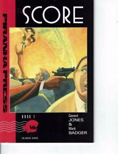 Lot Of 2 Comic Books Piranha Press Score #1 and Eclipse Scorpio Rose #1   ON7