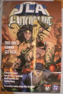 JLA WITCHBLADE Promo poster, 22x34, Wonder Woman, Unused, Batman, Superman