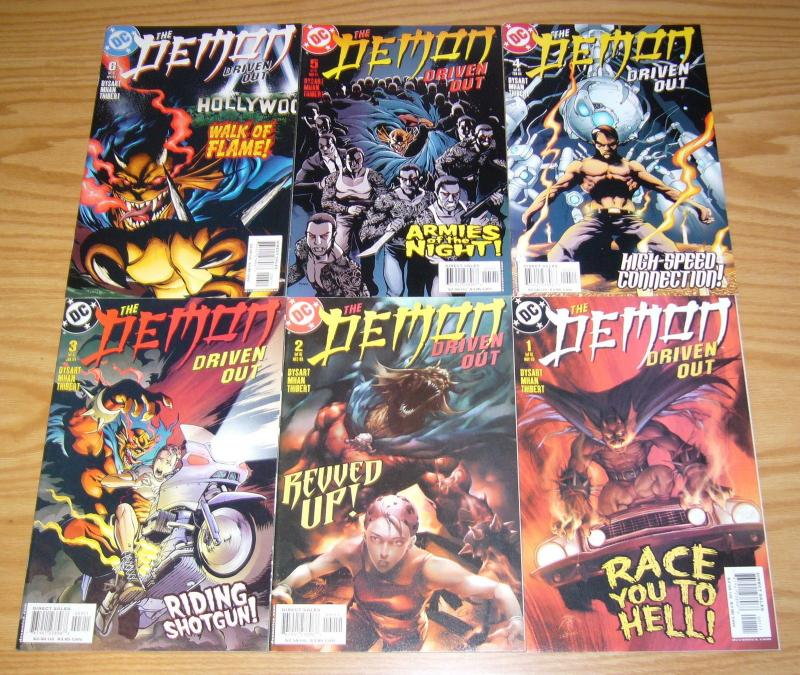 the Demon: Driven Out #1-6 VF/NM complete series - josh dysart - pop mhan set dc