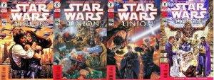 STAR WARS UNION (1999 DH) 1-4 'Marriage of Luke & Mara' COMICS BOOK