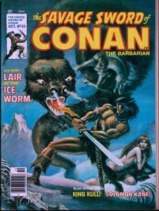 Savage Sword of Conan #34 - Early Conan Magazine - 6.0 or Better