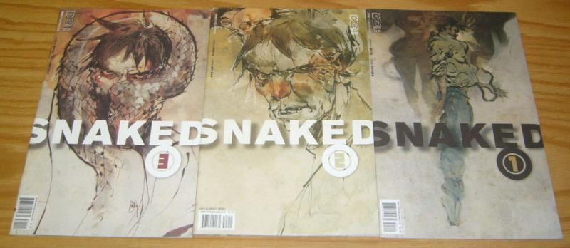 Snaked #1-3 VF/NM complete series ASHLEY WOOD clifford meth idw comics 2 set