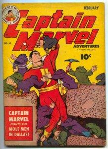 Captain Marvel Adventures #32 1944- Mole Men in Dallas VF-