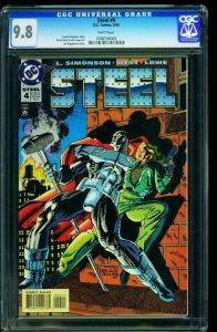 Steel #4 1994-DC Comics Superman- -CGC Graded 9.8 - 0788708009