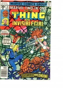 Marvel Two-In-One 32 VG/F   Invisible Girl, Spider-Woman!