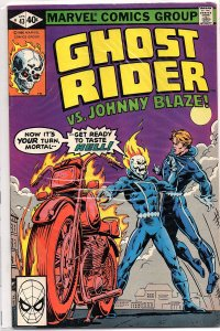 Marvel Comics Ghost Rider #43 Ghost Rider vs. Johnny Blaze Infantino Art