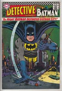 Detective Comics #362 (Apr-67) FN/VF+ High-Grade Batman, Robin