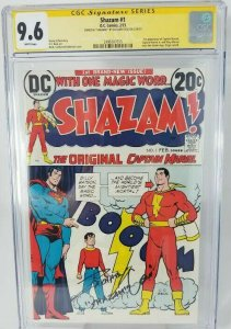 Shazam #1~1973 DC~CGC 9.6 (NM+)~Signed & Shazam! By: Zachary Levi