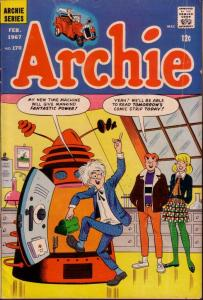 ARCHIE #170 SCIENCE FICTION COVER BETTY & VERONICA 1967 VG