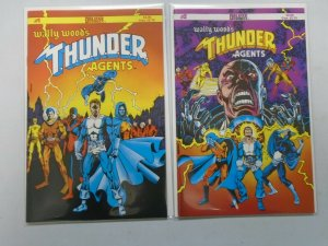 Wally Wood's THUNDER Agents #1+2 NM (1984 Deluxe)