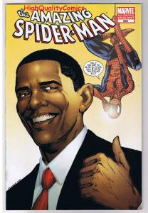 AMAZING SPIDER-MAN #583, NM-, Barack Obama, 2nd,  Variant, more ASM in store