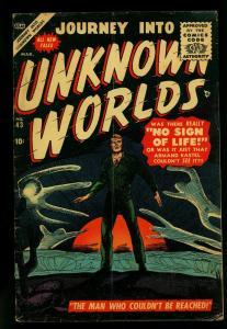 Journey into Unknown Worlds #43 1956- Atlas Horror- Krigstein G