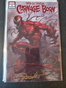 ​WEB OF VENOM: CARNAGE BORN SIGNED BY LUCIO PARRILLO WITH COA