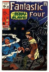 FANTASTIC FOUR #90 1969- JACK KIRBY-MARVEL-SKRULL VF