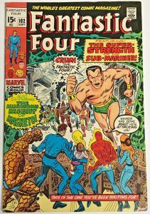 FANTASTIC FOUR#102 FN/VF 1970 MARVEL BRONZE AGE COMICS