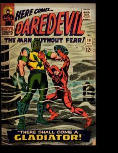 Daredevil # 18 VG/FN Marvel Comic Book Gladiator Appearance Defenders NE3