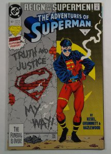 Adventures of Superman #501 Regular FN Poster Front/Back Cover Photos DC 1993