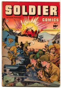 Soldier Comics #3 1952- Korean War- Fawcett Golden Age VG-
