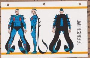 Official Handbook of the Marvel Universe Sheet- Llan the Sorcerer