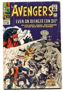 AVENGERS #14 comic book 1965 Captain America-Iron Man VG-