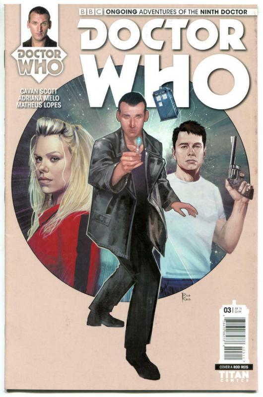 DOCTOR WHO #3 A, NM, 9th, Tardis, 2016, Titan, 1st, more DW in store, Sci-fi