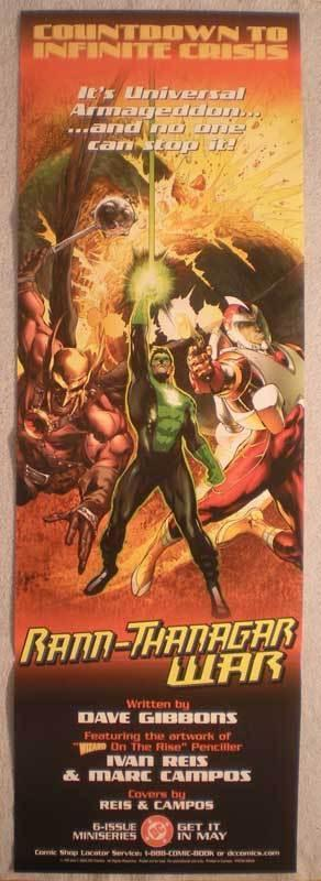INFINITE CRISIS : RANN-THANAGAR WAR Promo Poster, Unused, more in our store