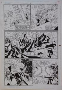 PHIL JIMENEZ / ROMEO TANGHAL original art, ROBIN #6 pg 14, 11x17, 1994