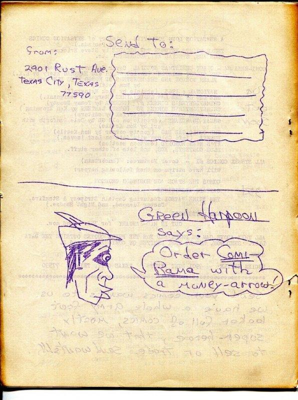 Comic-Rama #3-1963 comic book Fanzine-Hawkman-rare