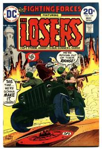 OUR FIGHTING FORCES #148 1974-DC-THE LOSERS-CAPT STORM-JOE KUBERT vf/nm